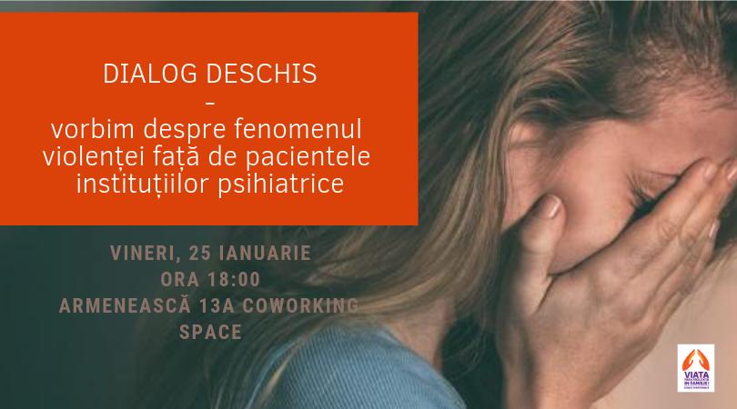 Vă invităm la dialog deschis: vorbim despre violența față de femeile-paciente din instituțiile psihiatrice