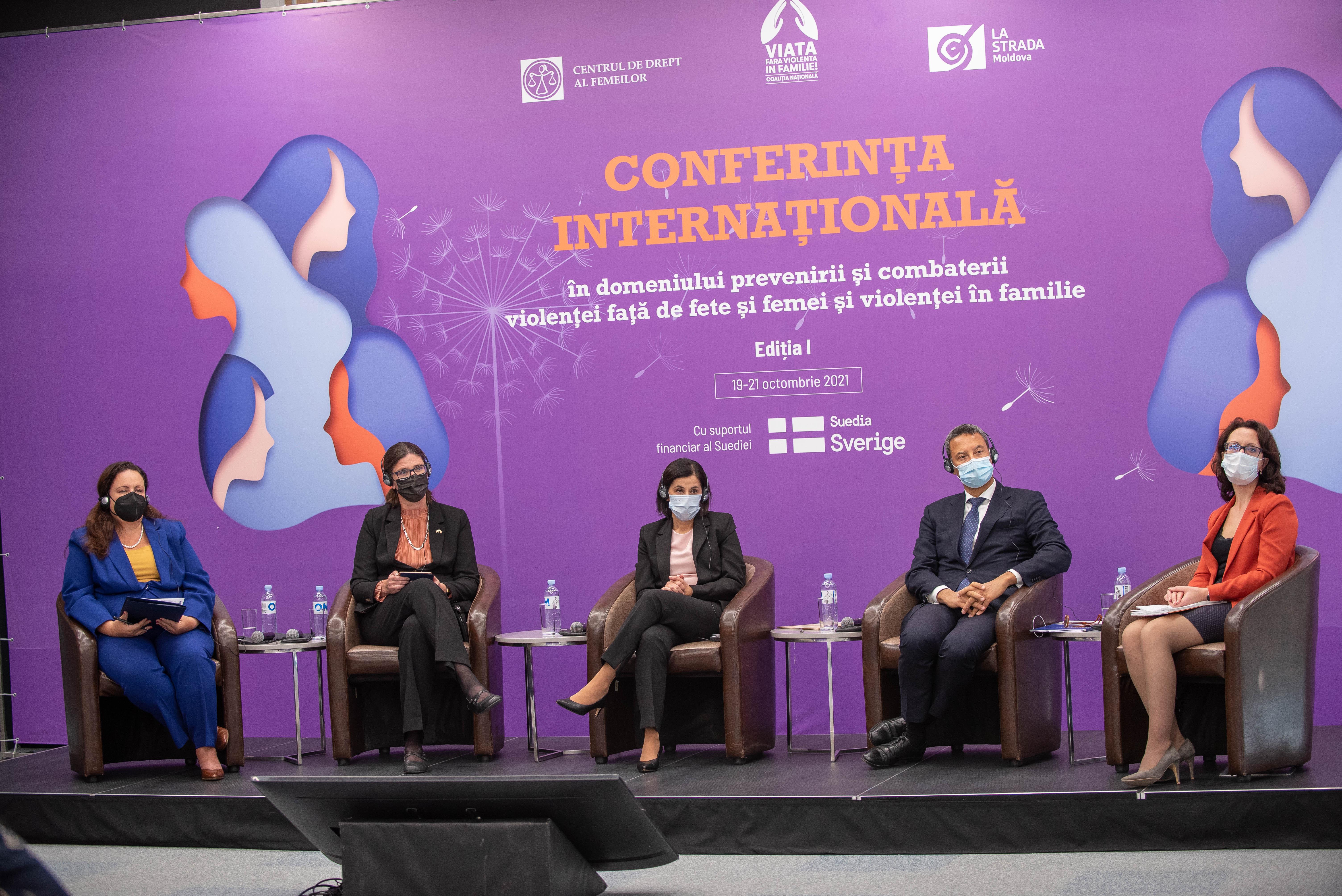 Prima ediție a Conferinței Internaționale în domeniul prevenirii și combaterii violenței față de fete și femei și violenței în familie a adunat peste 40 de speakeri naționali și internaționali